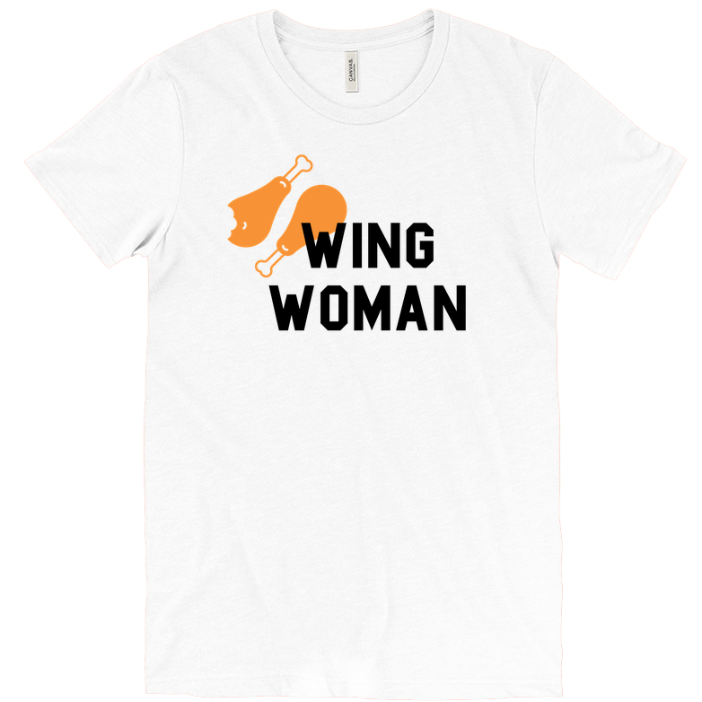 """<p>delish.com</p><p><strong>$25.00</strong></p><p><a href=""""https://store.delish.com/wing-woman-t-shirt.html"""" rel=""""nofollow noopener"""" target=""""_blank"""" data-ylk=""""slk:Shop Now"""" class=""""link rapid-noclick-resp"""">Shop Now</a></p><p>Because they are...right?</p>"""