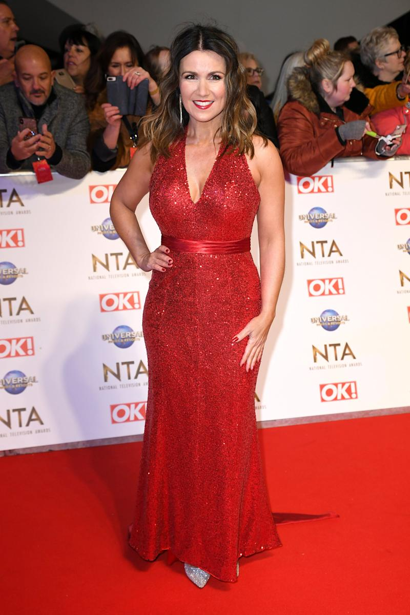 Susanna Reid attending the National Television Awards 2020 held at the O2 Arena, London. Photo credit should read: Doug Peters/EMPICS