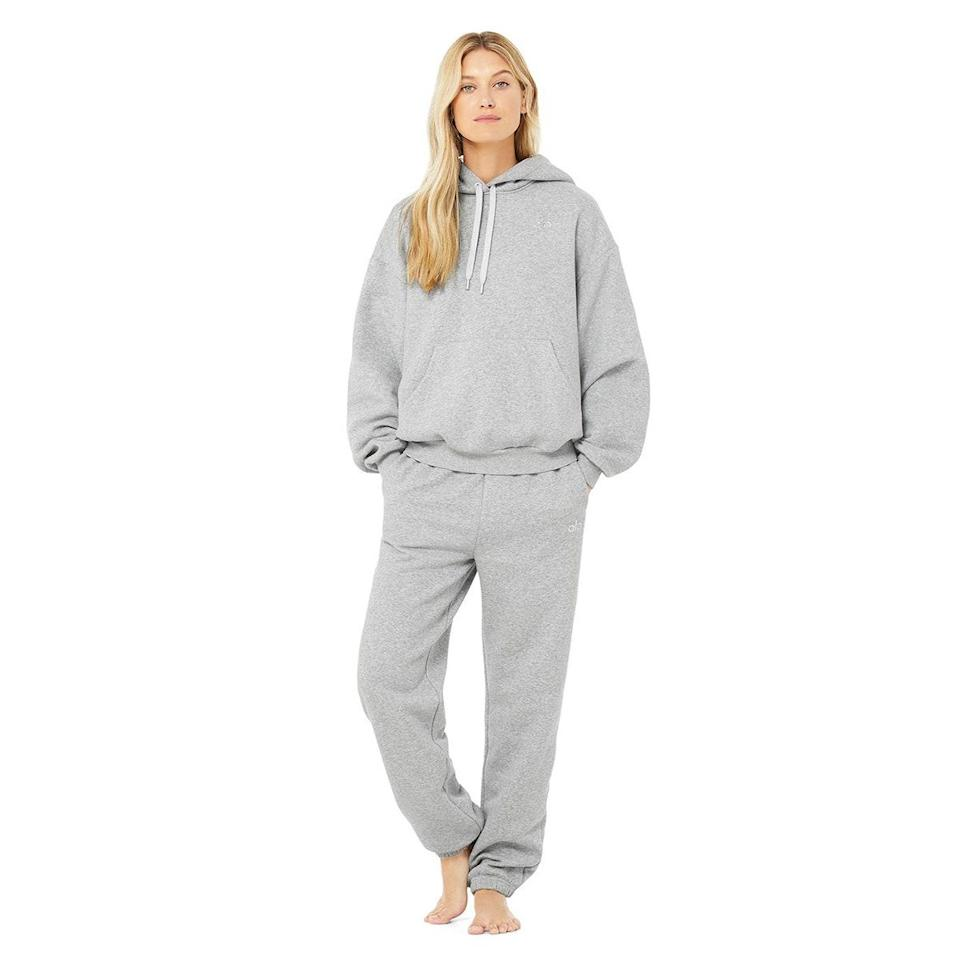 """Sweatsuits for winter? Groundbreaking. But you know you'll want to wear this slouchy set after those holiday feasts—and these are made with a super-soft fleece that feels extra luxe. Future you is giving thanks. $226, Alo. <a href=""""https://www.aloyoga.com/products/accolade-hoodie-accolade-sweatpant-set"""" rel=""""nofollow noopener"""" target=""""_blank"""" data-ylk=""""slk:Get it now!"""" class=""""link rapid-noclick-resp"""">Get it now!</a>"""