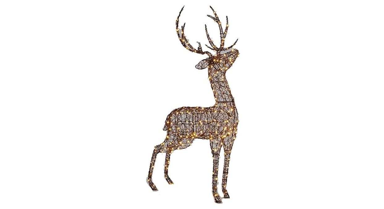 Standing Stag Twinkling LED Lit Figure