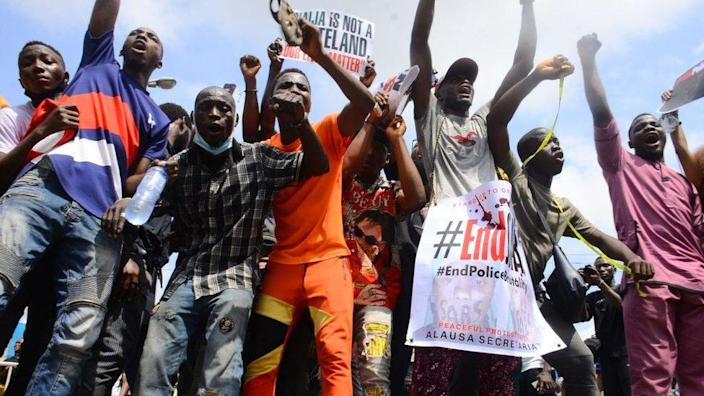 EndSars protesters in Lagos