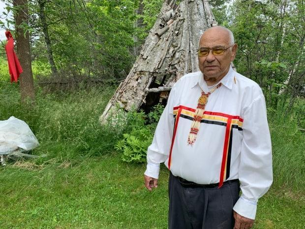 'Reconciliation means that you make amends for what you've done, and the government hasn't made amends. Canadian society certainly hasn't made amends,' said Keptin John Joe Sark, who in the 1990s was a Mi'kmaq UN ambassador helping draft the Indigenous rights declaration. (Laura Chapin/CBC - image credit)