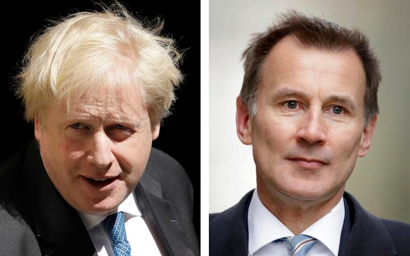 Head to head: Boris Johnson and Jeremy Hunt are the last Tories standing - AP