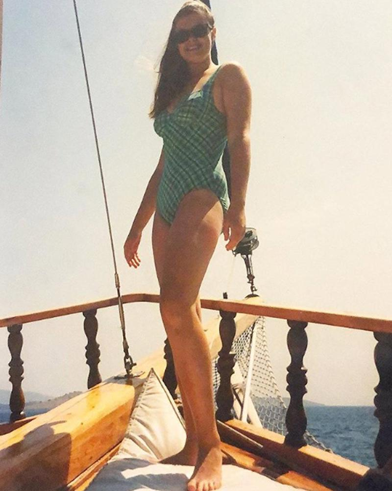 Gemma Collins has posted nostalgic images of herself on a boat (@gemmacollins1)