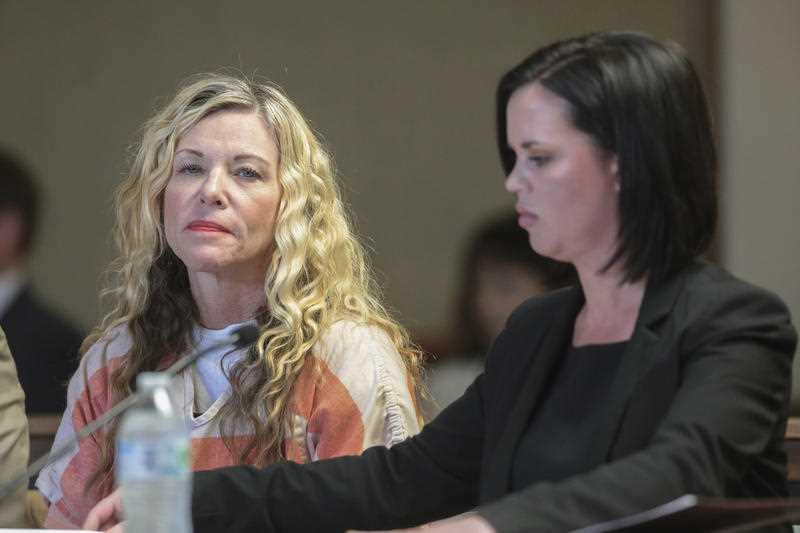 Lori Vallow Daybell glances at the camera during her hearing in Rexburg, Idaho.