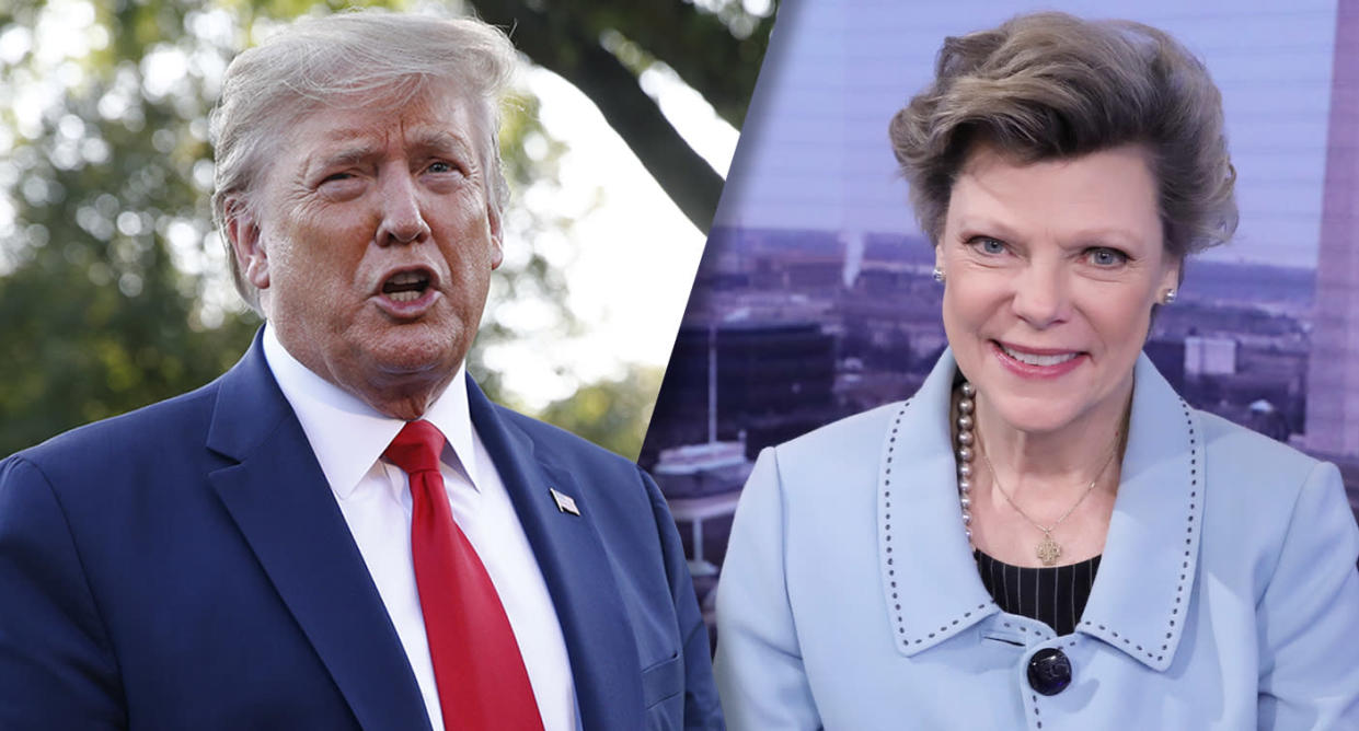 President Trump and Cokie Roberts. (Photos: Patrick Semansky/AP; Heidi Gutman/Walt Disney Television via Getty Images)