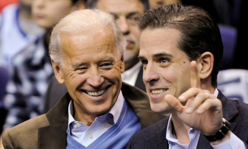 Joe and Hunter Biden in 2010.