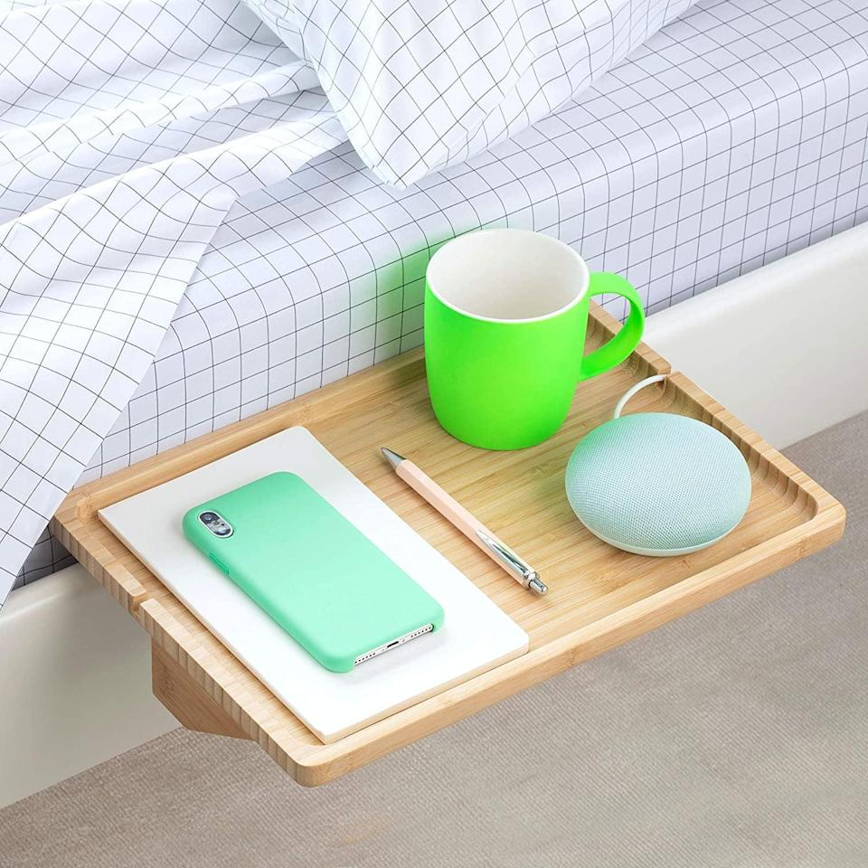<p>The <span>BedShelfie The Original Bedside Shelf For Bed and Bunk Bed </span> ($30) will be your midnight or early-morning best friend. Keep your phone, a water bottle, or any other bedtime necessities only a stretch away.</p>