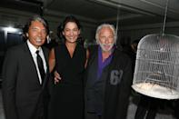 PARIS, FRANCE - SEPTEMBER 12: Kenzo Takada and Pierre Richard (R) attend 10 Royale by Kenzo Takada - High Jewellery First Edition Launch '10 Royale by Kenzo Takada' High Jewellery First Edition Launch at 10 Rue Royale on September 12, 2012 in Paris, France. (Photo by Michel Dufour/WireImage)