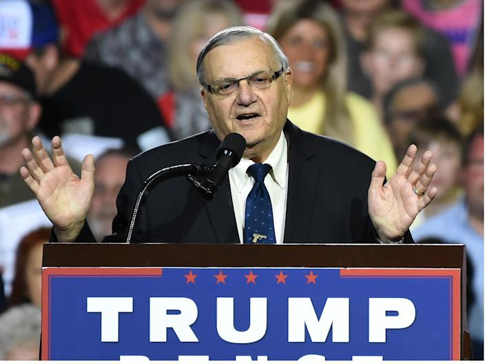Former Maricopa County, Arizona sheriff Joe Arapaio's presidential pardon may not be upheld by a US court: ROBYN BECK/AFP/Getty Images
