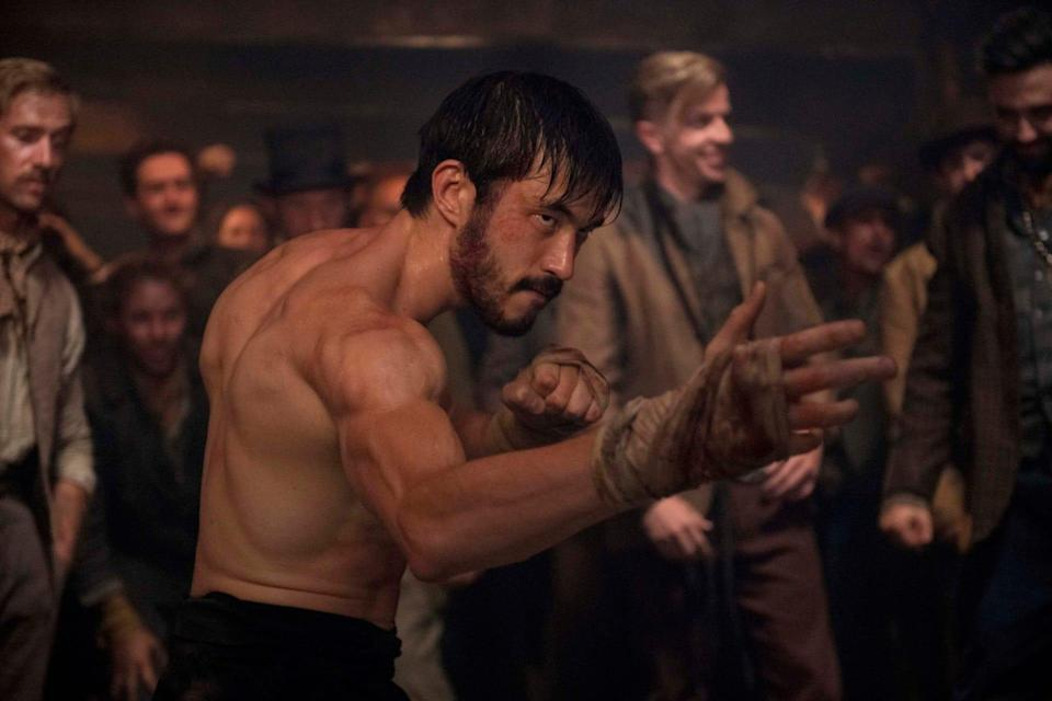 """Andrew Koji stars as Ah Sahm, a Chinese immigrant fighting for his life in 19th-century San Francisco, in the HBO Max series """"Warrior."""""""