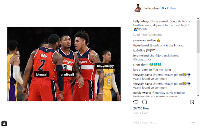Wave Papi congratulates Wall and Beal on being selected as All-Star reserves.
