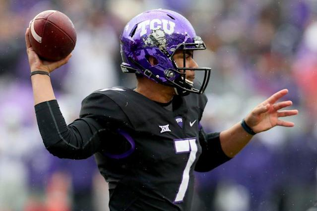 Can TCU QB Kenny Hill bounce back in 2017? (Getty)