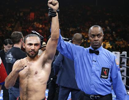 Keith Thurman remains undefeated following Saturday's win over Robert Guerrero. (AP Photo/Eric Jamison)