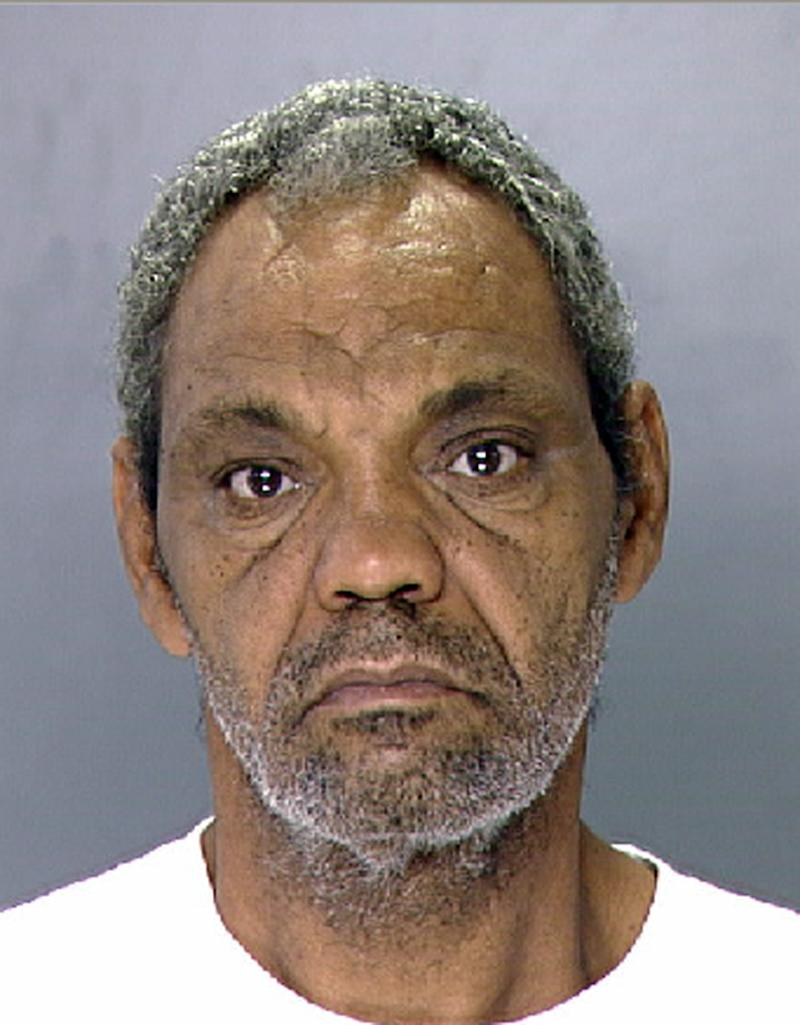 This undated photo provided by the Philadelphia Police Department shows Eddie Wright. Wright is one of three people charged  following the discovery of four malnourished mentally disabled adults chained to a boiler in a locked northeast Philadelphia basement room that was too small for an adult to stand up straight and also reeked of waste from the buckets they used to relieve themselves, police said Sunday, Oct. 16, 2011. (AP Photo/Philadelphia Police Department)