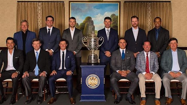 The PGA Champions Dinner delivered the goods Tuesday at Bethpage. Mouth-watering menu … star-studded guest list … group photo with the Wanamaker … check, check and check.