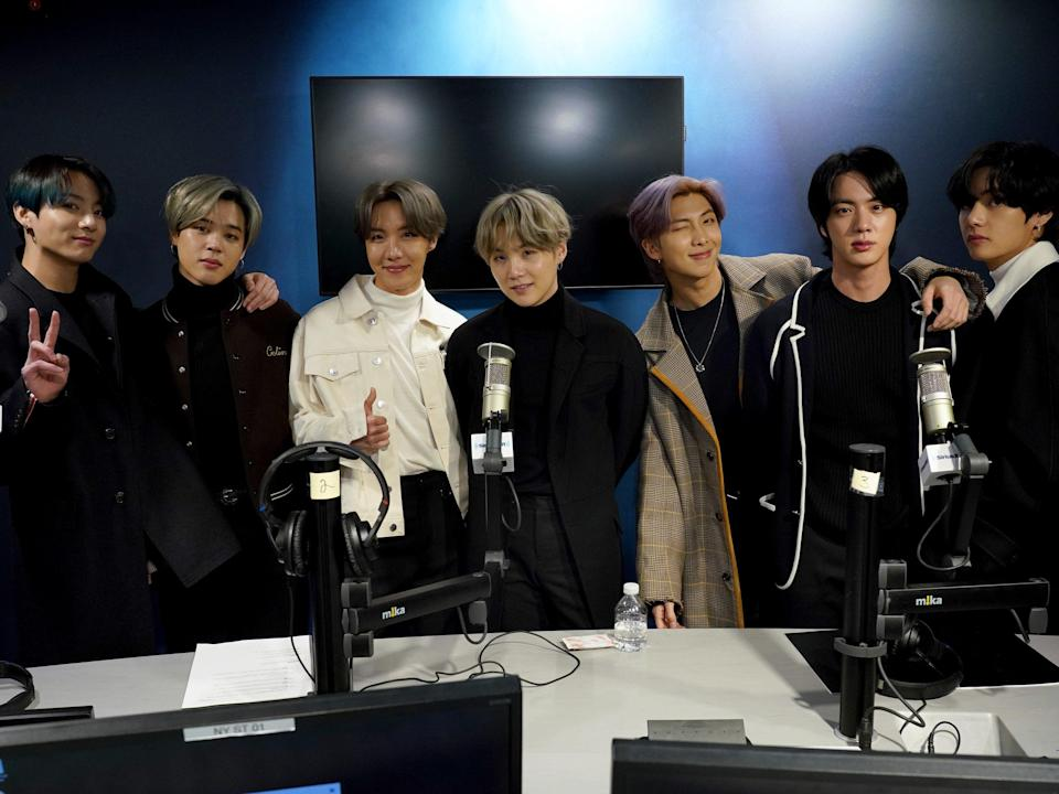 BTS, pictured in 2020 (Getty Images for SiriusXM)
