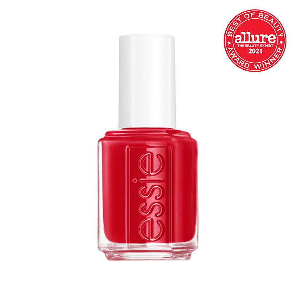 <strong>Essie nail polish in Not Red-y For Bed</strong> is what would happen if you crossed a cherry with a chili pepper: bright, glossy, and a little bit saucy.