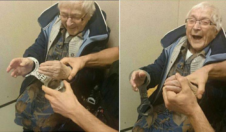 99-year-old granny gets arrested as part of bucket list