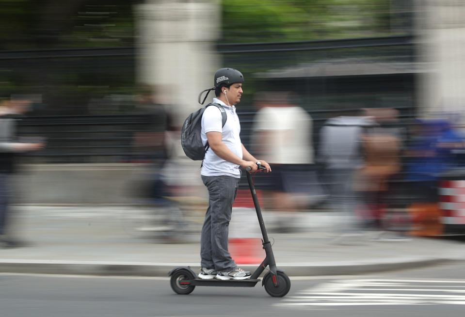 An e-scooter user (PA Archive)