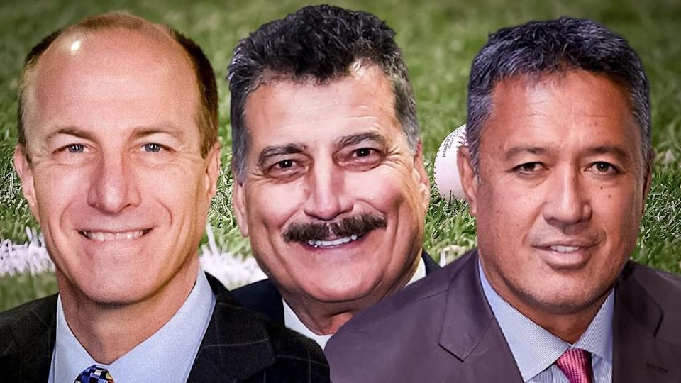 Gary Cohen Keith Hernandez Ron Darling Headshots SNY TV Broadcast Booth