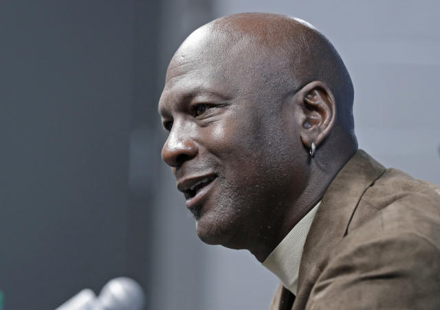 Michael Jordan and the Jordan Brand have pledged $100 million to advocate for racial equality. (AP Photo/Chuck Burton)