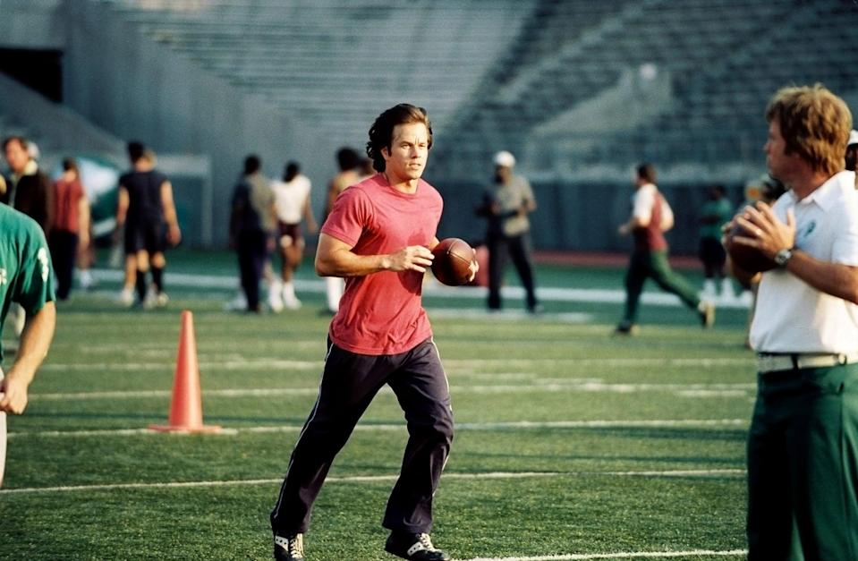"""<p>Thirty-year-old football fan Vince Papale thought his chances of playing his favorite sport were long gone. After getting the chance to try out for the Philadelphia Eagles, he winds up as the oldest rookie in the NFL who didn't even play college ball, but that's only the beginning of his story.</p> <p><a href=""""http://www.disneyplus.com/movies/invincible/1IxmGlzNpoXD"""" class=""""link rapid-noclick-resp"""" rel=""""nofollow noopener"""" target=""""_blank"""" data-ylk=""""slk:Watch Invincible on Disney+."""">Watch <strong>Invincible</strong> on Disney+.</a></p>"""