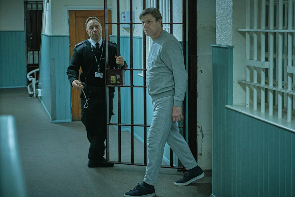WARNING: Embargoed for publication until 00:00:01 on 01/06/2021 - Programme Name: Time - TX: n/a - Episode: n/a (No. 1) - Picture Shows:  Eric McNally (STEPHEN GRAHAM), Mark Cobden (SEAN BEAN) - (C) BBC Studios - Photographer: Matt Squire