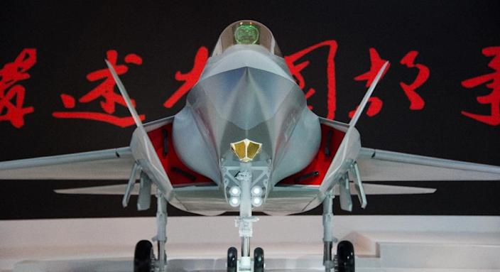 China unveiled the J-31 stealth fighter at the 2014 Airshow in Zhuhai, Guangdong province (AFP Photo/Johannes Eisele)