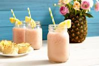 """<p>Add a little island sunshine to your Easter festivities with these watermelon piña coladas. </p><p><strong><em>Get the recipe at <a href=""""https://www.delish.com/cooking/recipe-ideas/recipes/a46570/watermelon-pina-coladas-recipe/"""" rel=""""nofollow noopener"""" target=""""_blank"""" data-ylk=""""slk:Delish"""" class=""""link rapid-noclick-resp"""">Delish</a>. </em></strong></p>"""