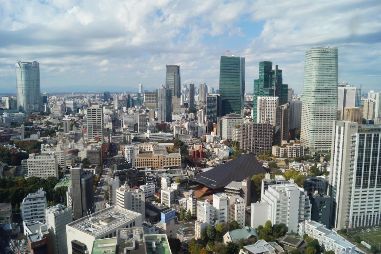 A view from Tokyo Tower. (Photo: Michael Walsh/Yahoo News)
