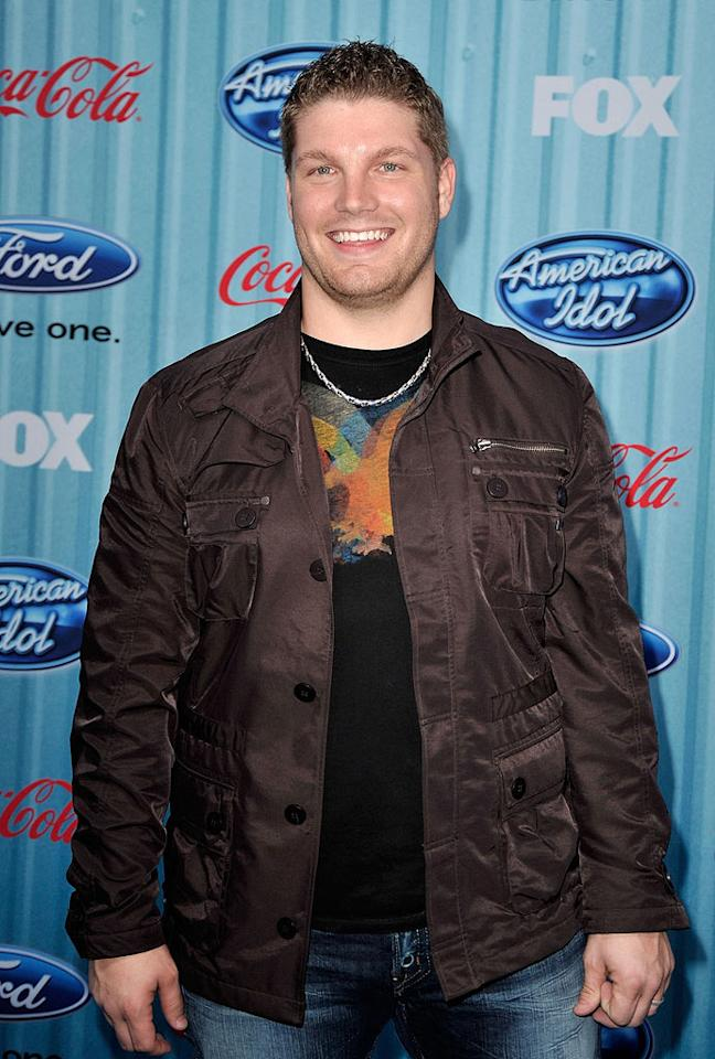 """Finalist <a href=""""/michael-sarver/contributor/2461095"""">Michael Sarver</a> arrives at the <a href=""""/american-idol/show/34934"""">""""American Idol""""</a> Top 13 Party held at AREA nightclub on March 5, 2009 in Los Angeles, California."""
