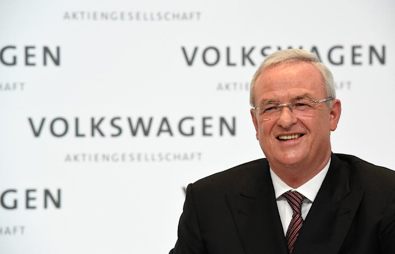 "German prosecutors say former Volkswagen CEO Martin Winterkorn was as ""guarantor"" to authorities and customers that the group was not selling cheating vehicles ""even after he knew about the illegal manipulations"" (AFP Photo/Tobias SCHWARZ)"