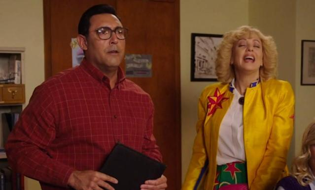 "Ruben Amaro left his baseball uniform at home to do a cameo on ""The Goldbergs."" (ABC)"
