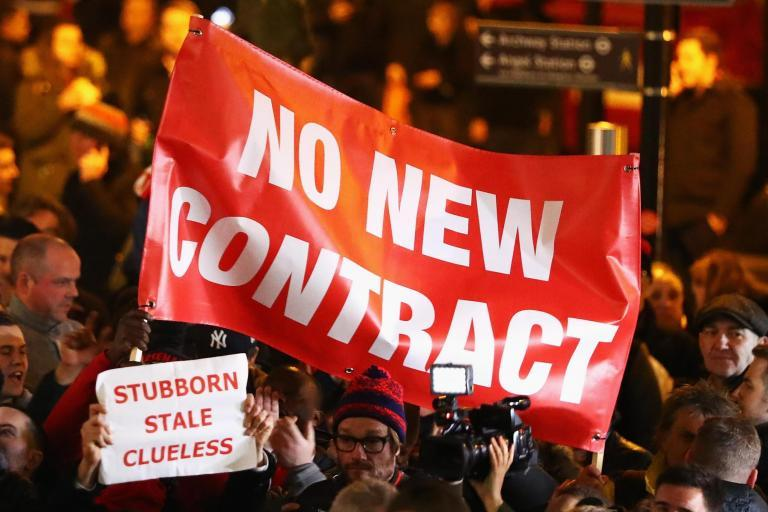 Hundreds of Arsenal fans stage anti-Arsene Wenger protest before Bayern Munich Champions League clash