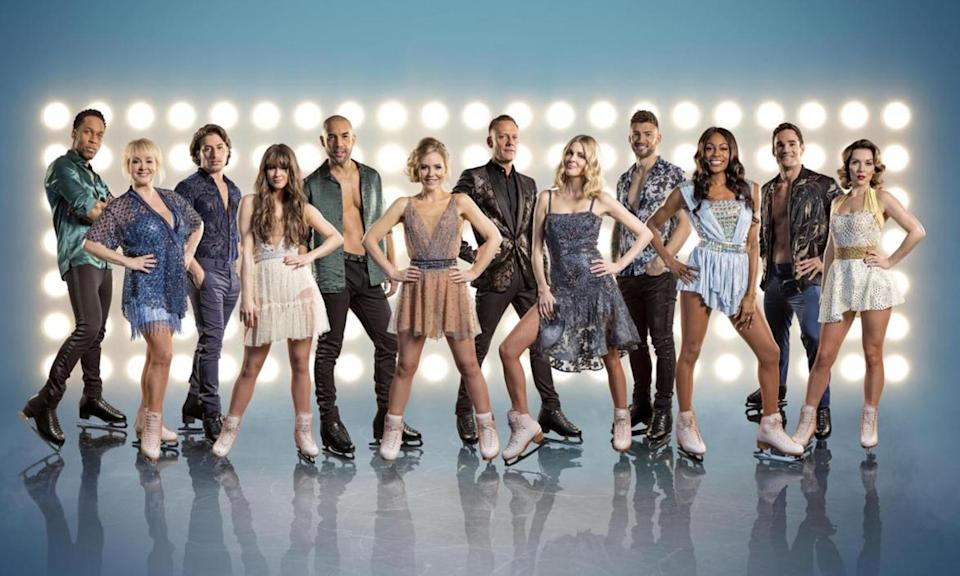 """<p><a href=""""https://uk.news.yahoo.com/dancing-ice-celebrity-line-confirmed-152325735.html"""" data-ylk=""""slk:Dancing on Ice;outcm:mb_qualified_link;_E:mb_qualified_link;ct:story;"""" class=""""link rapid-noclick-resp yahoo-link""""><i>Dancing on Ice</i></a> rose from the dead at the beginning of 2018 after four years, starring folk from <i>Corrie</i>, Bucks Fizz and er, the Olympics. Singer Jake Quickenden triple axled off with the trophy and the show is back next year.<br>Photo: ITV </p>"""