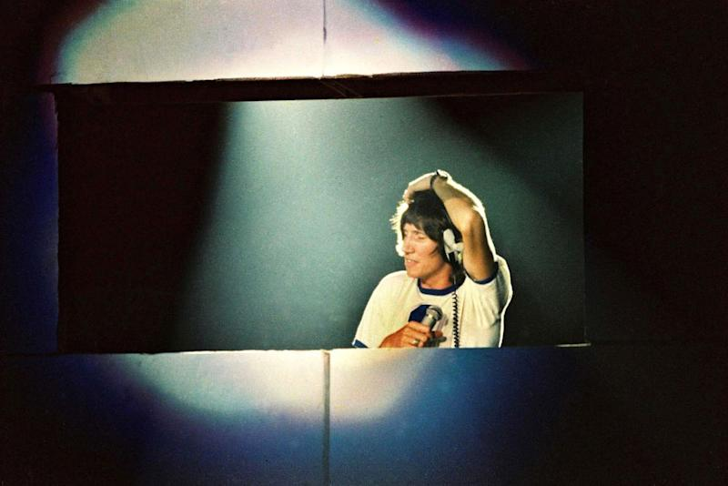 Roger Waters performs The Wall at Earls Court Arena in London, 1980.   Pete Still/Redferns