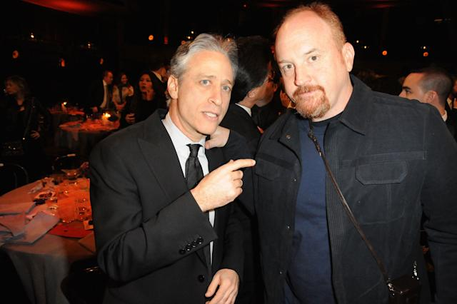 Jon Stewart and Louis C.K. at the First Annual Comedy Awards on March 26, 2011. (Jeff Kravitz via Getty Images)