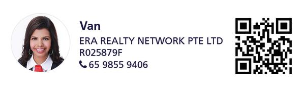 Contact details of marketing agent for the property (Van | ERA REALTY NETWORK PTE LTD | 65 9855 9406)