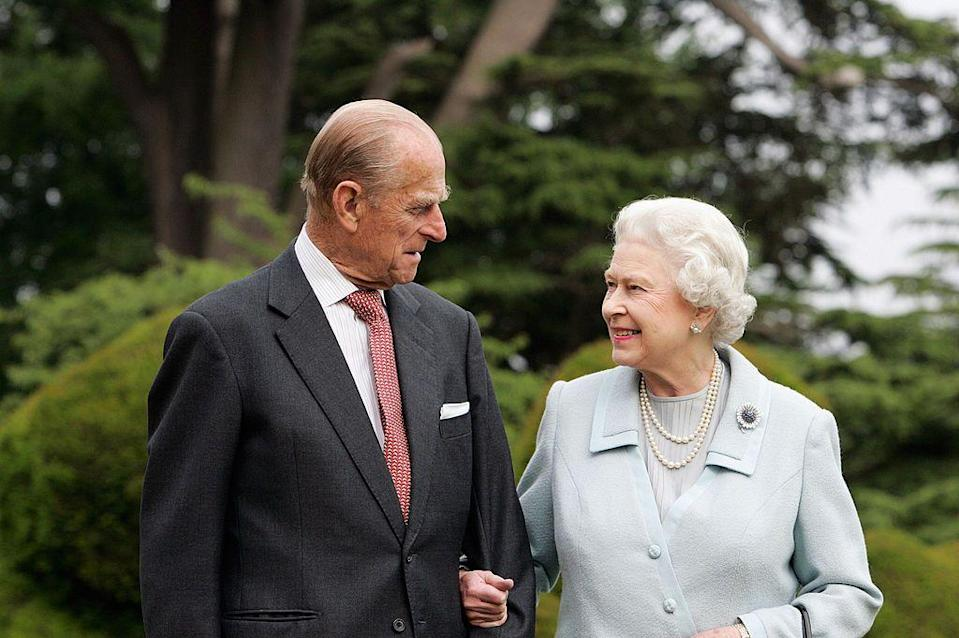 <p>Marking their Diamond Wedding Anniversary at Broadlands in Hampshire, where the couple spent their wedding night in 1947.</p>