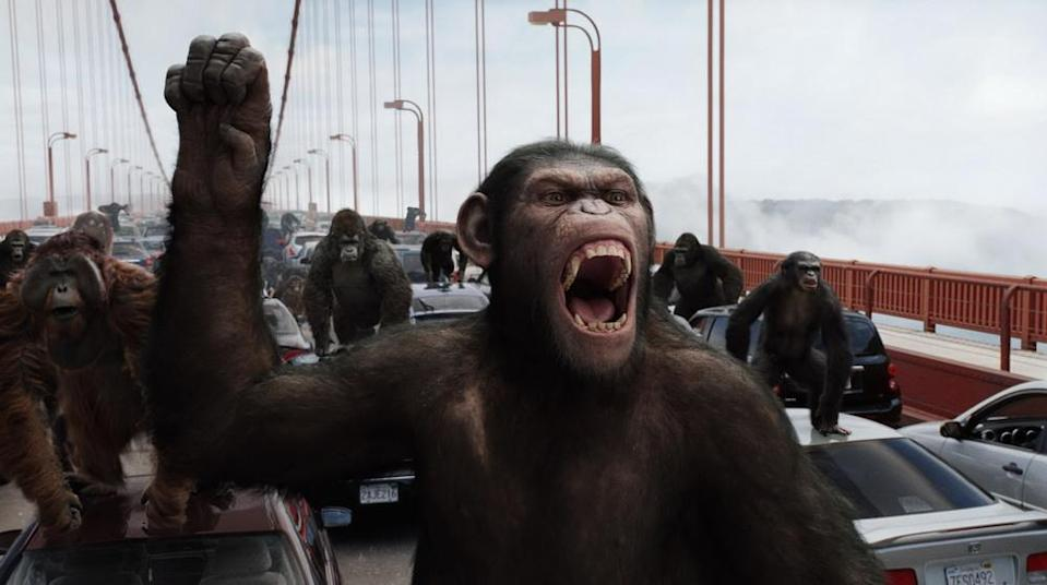 The apes go ape in Rise of the Planet of the Apes