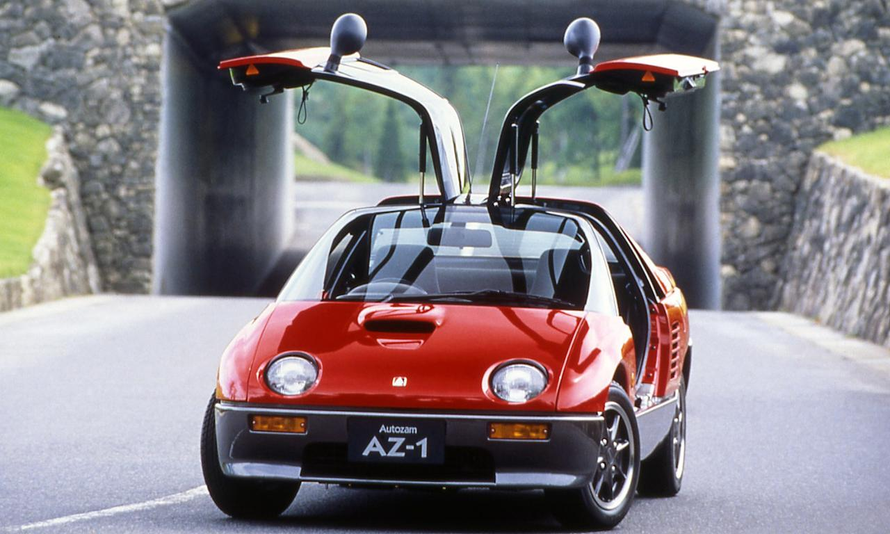 """<p>Now that <a rel=""""nofollow"""" href=""""http://www.roadandtrack.com/car-culture/classic-cars/a14010665/autozam-az-1-regular-car-reviews/"""">the AZ-1</a> is eligible for import into the US, it's becoming highly desirable. The car's mid-engine layout and gullwing doors combined with its tiny footprint make it a joy to drive. Prices are hovering around $10,000-$15,000 now, but expect those numbers to climb over time. </p>"""