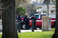 U.S. Capitol Police investigate following a security threat at the U.S. Capitol in Washington