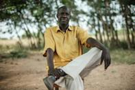 Mpangire Blasio Korokoni was evicted from his land to make way for the oil project