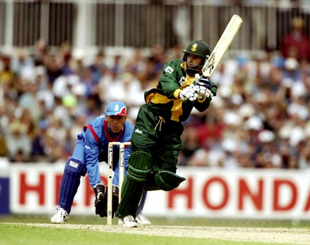 22 May 1999:  Gary Kirsten of South Africa bats in the Cricket World Cup Group A match against England played at The Oval in London, England. South Africa won the game by 122 runs. \ Mandatory Credit: Laurence Griffiths /Allsport