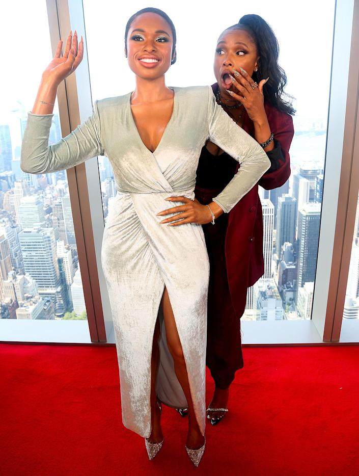 <p>Jennifer Hudson poses next to her wax figure during the launch of her Madame Tussauds wax figure at SUMMIT One Vanderbilt on Sept. 12 in N.Y.C.</p>