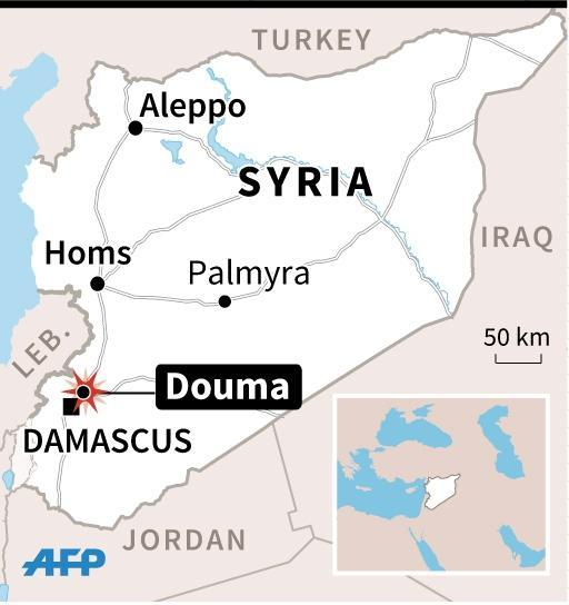Douma is part of a rebel-held area that is regularly targeted by regime bombardment (AFP Photo/)