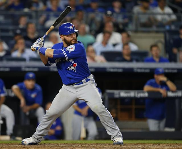 Blue Jays catcher Russell Martin has hit 20 home runs since May 25. (Getty Images)