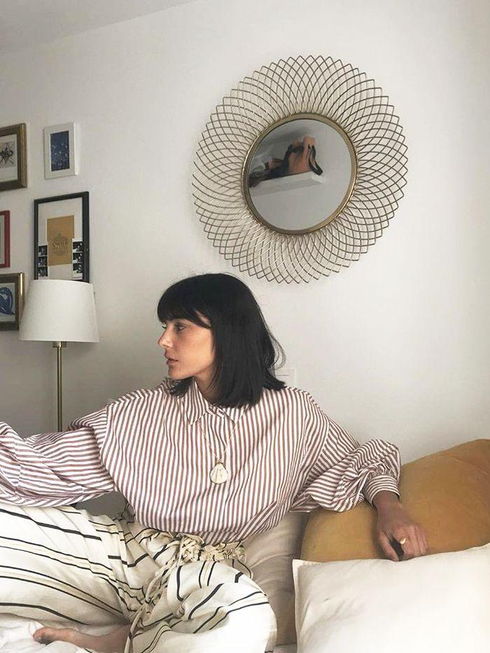 We love Maria's bob and outfit almost as much as her dreamy interior set-up.