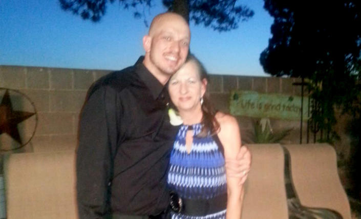 Image: Ramsey Mitchell and his mother, Sandi Price, in 2013. Price said she doesn't understand why Live PD continued to film in Williamson County after Javier Ambler died in March 2019. (Courtesy of Sandi Price)